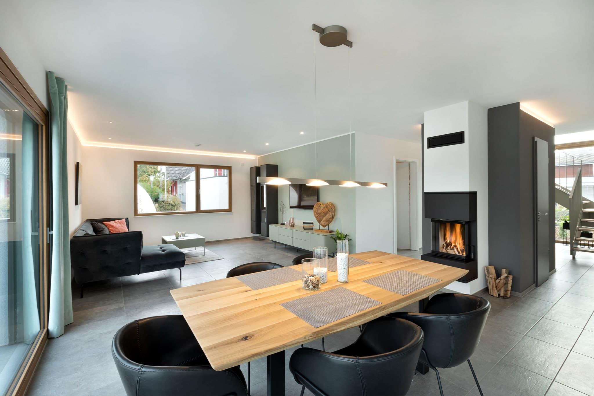 Musterhaus Mannheim Offener Wohn-Essbereich