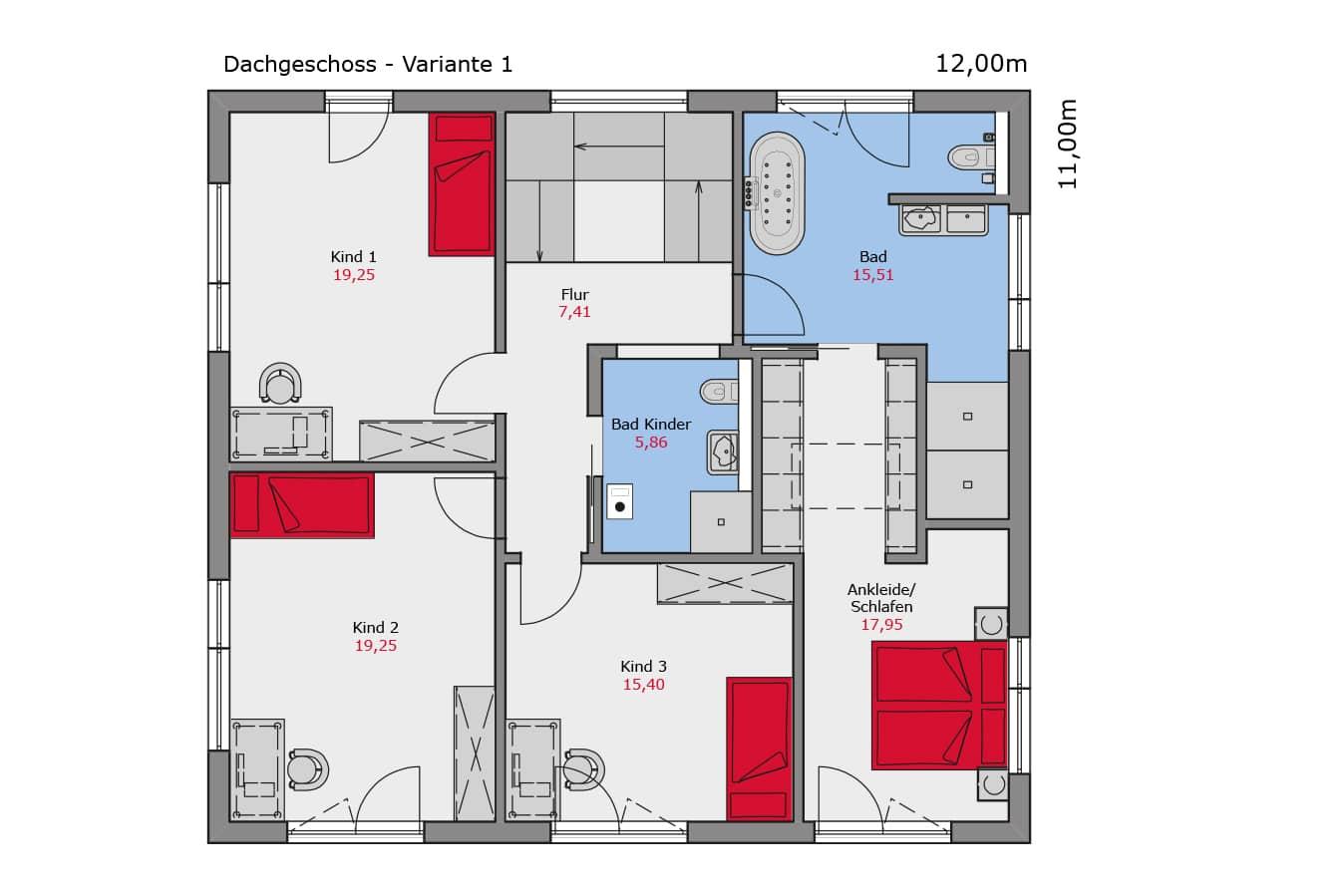 Grundriss_Musterhaus_Mannheim_Dachgeschoss_Variante1_Fertighaus