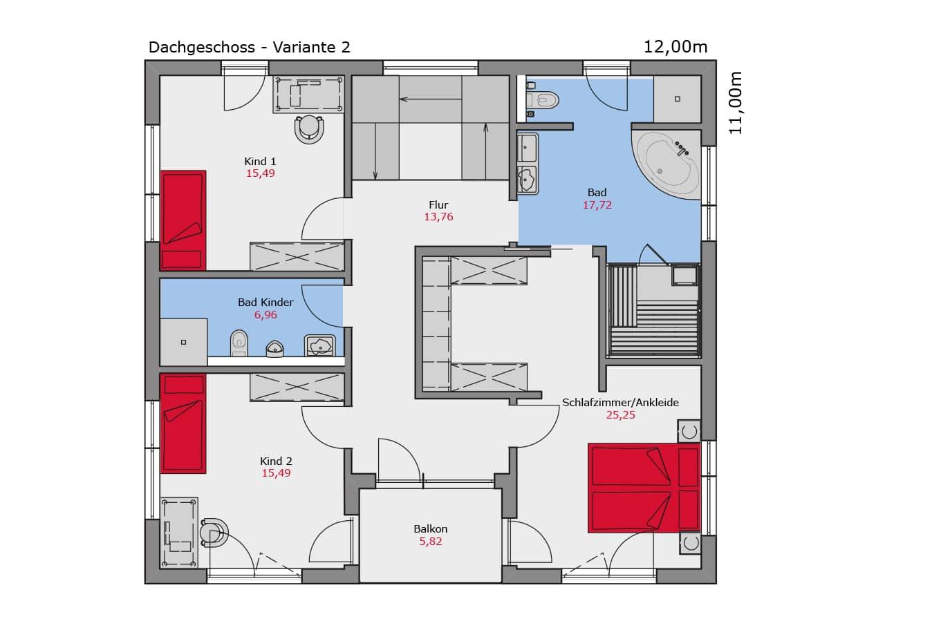 Grundriss_Musterhaus_Mannheim_Dachgeschoss_Variante2_Fertighaus