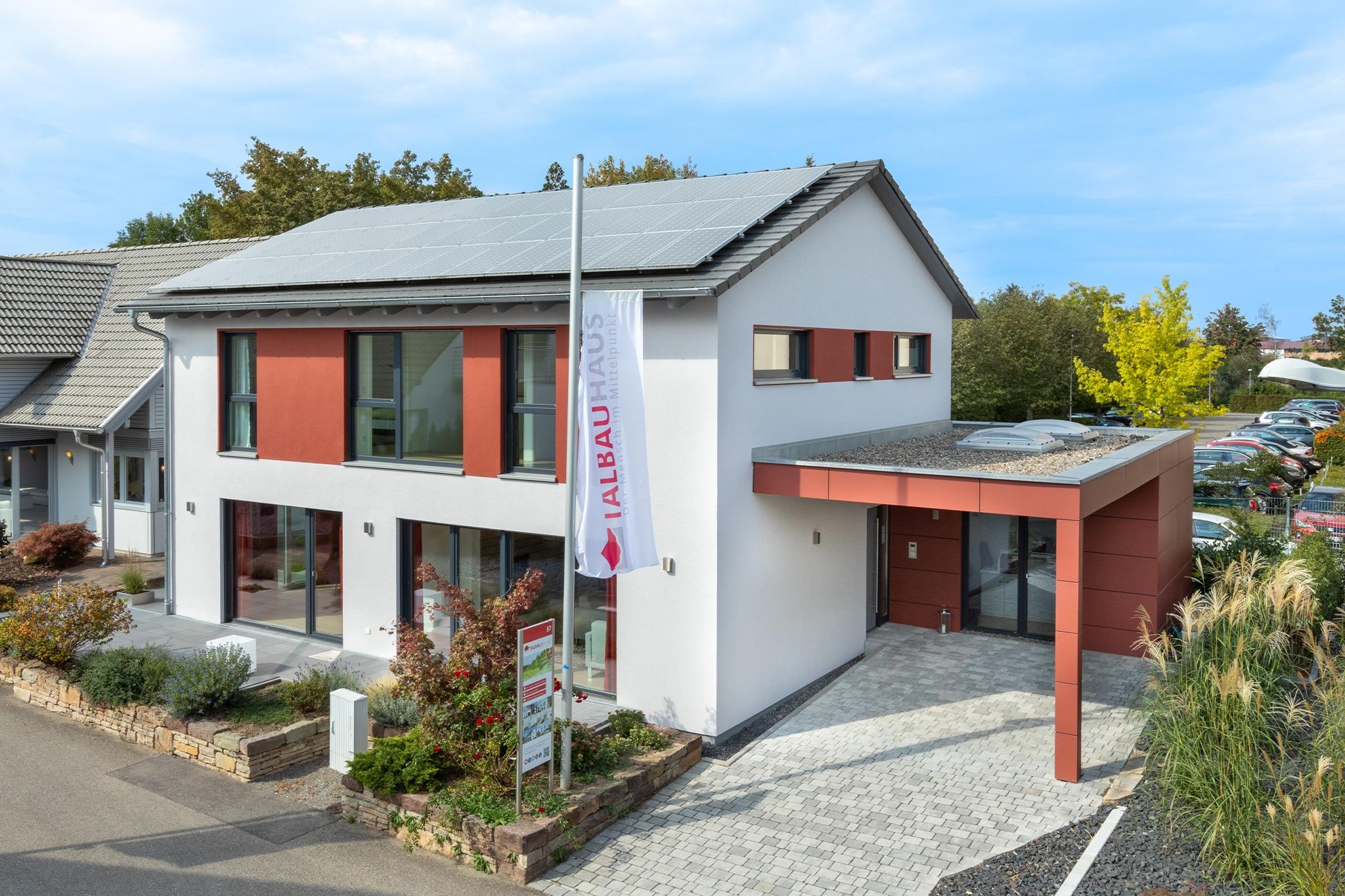 Musterhaus Fellbach Fertighaus Modernes, puristisches Design Talbau-Haus