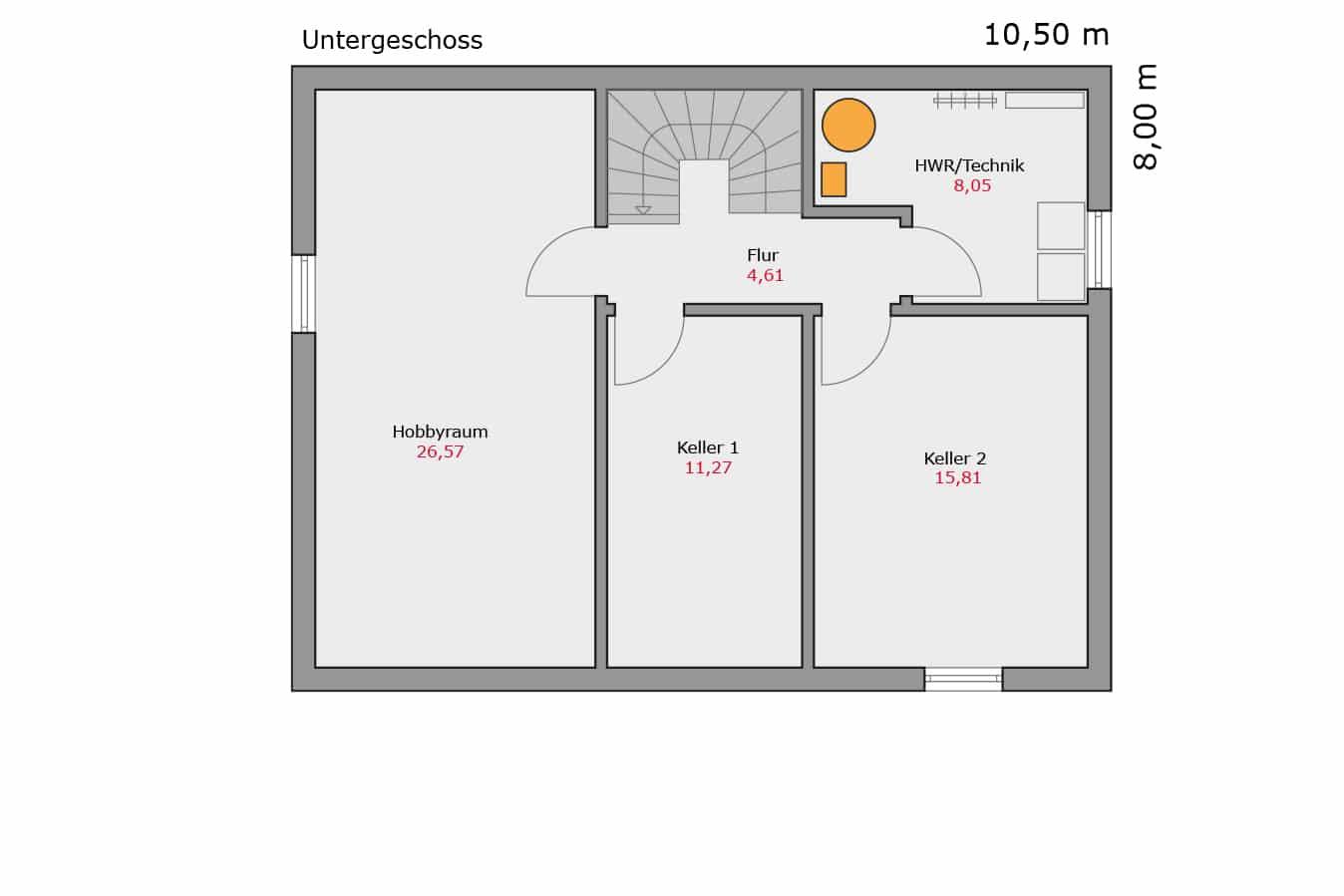 Haus114_Grundriss_Untergeschoss_Flachdach_Einfamilienhaus_Talbauhaus