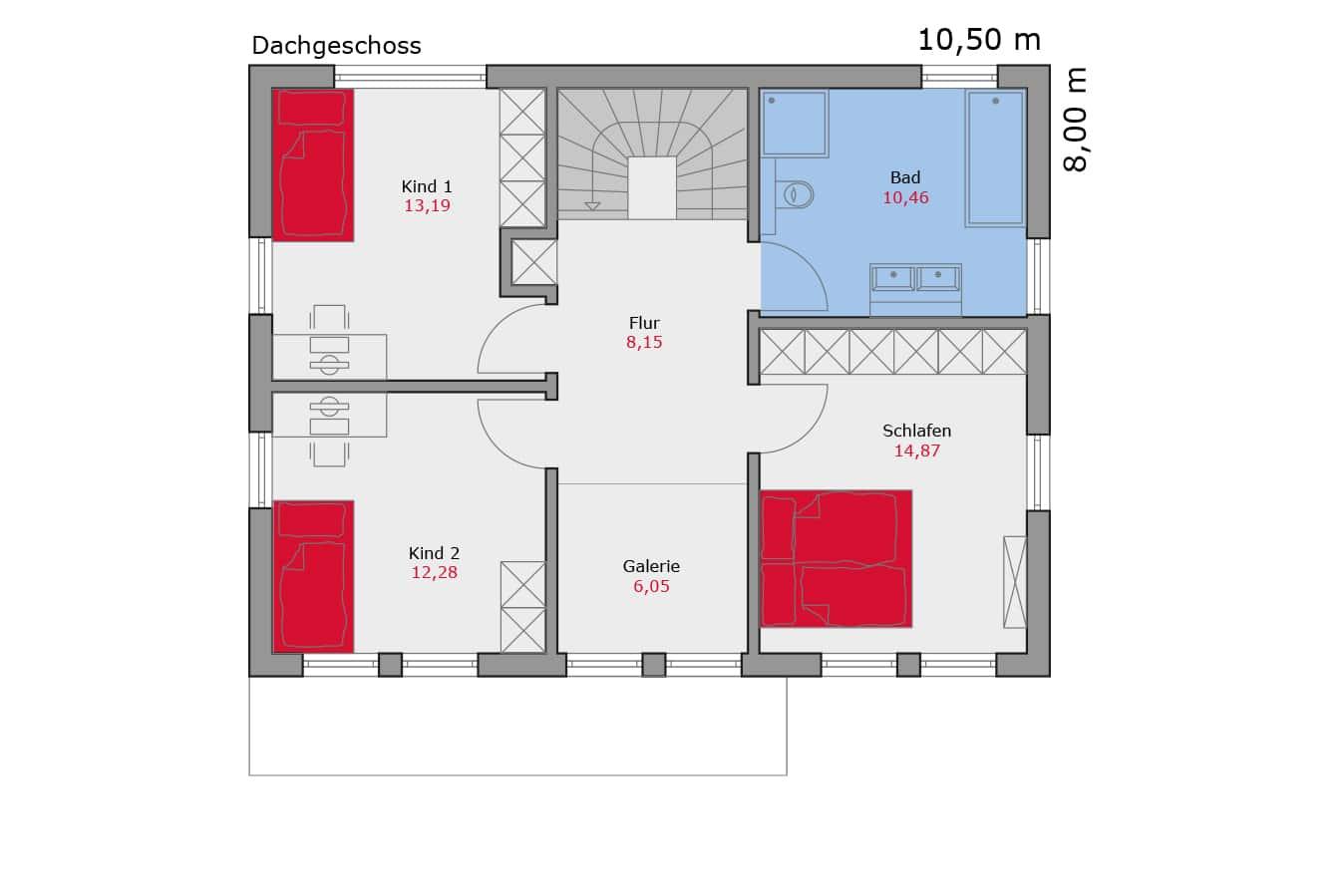 Haus113_Grundriss_Dachgeschoss_Walmdach_Einfamilienhaus_Talbauhaus