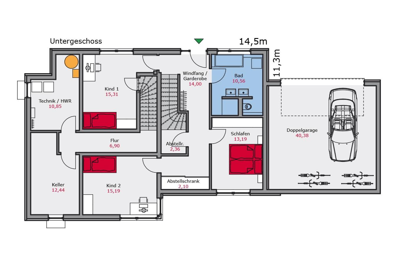 Haus142_Grundriss_Untergeschoss_Zweifamilienhaus