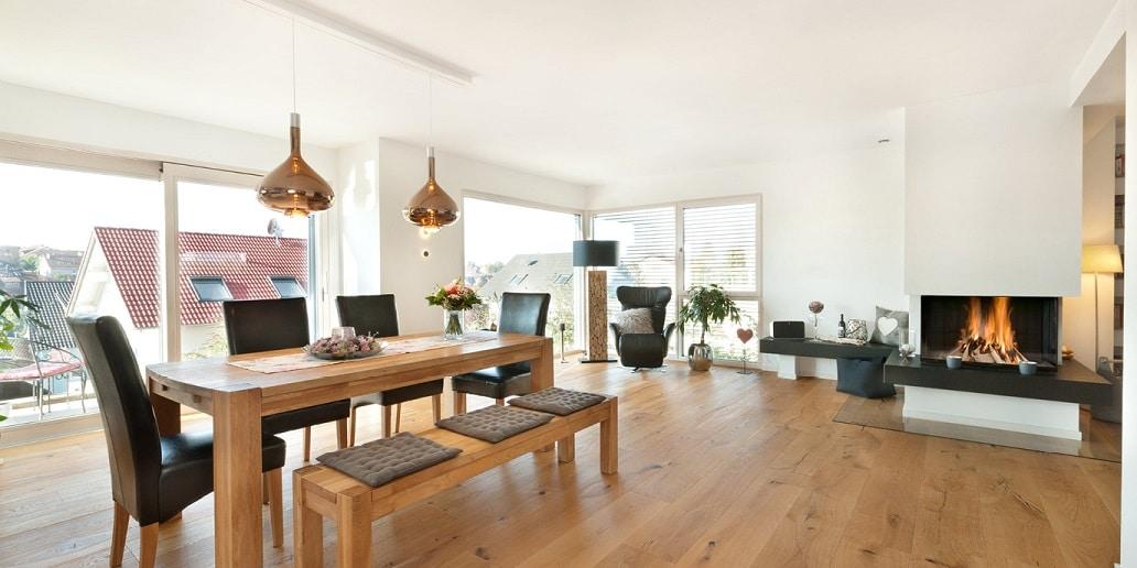 Wohnbereich in der Doppelhaushälfte
