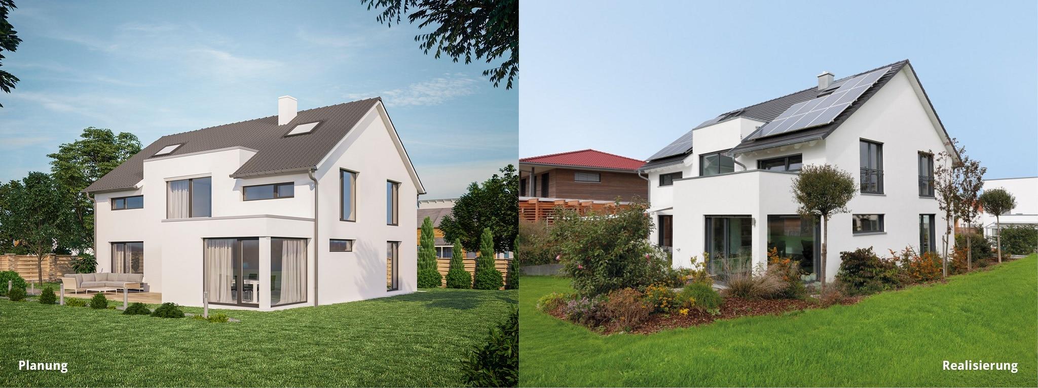 Vergleich Planung und Realisierung Einfamilienhaus