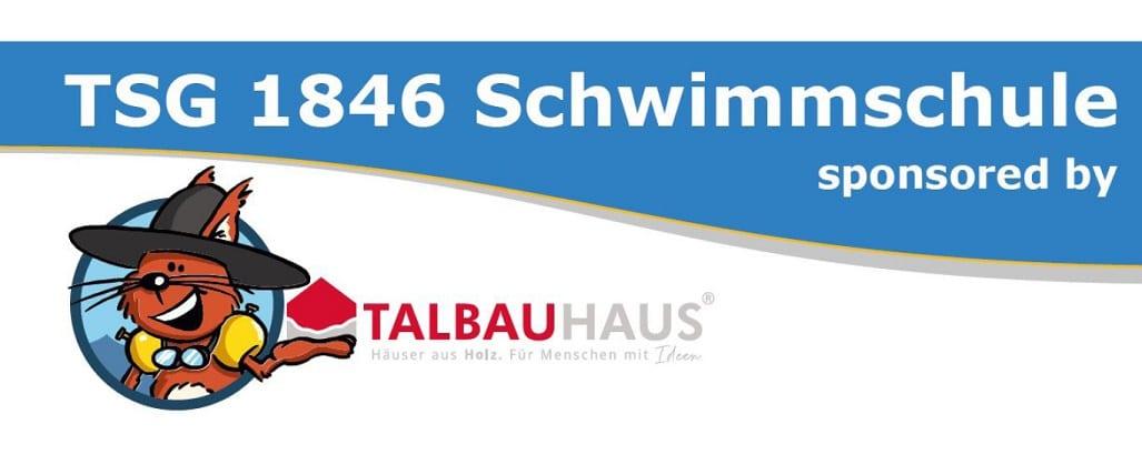 TALBAU-Haus ist Sponsor der TSG Schwimmschule Backnang.