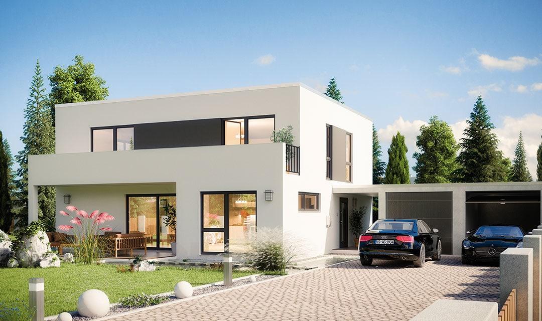 Bauhaus mit Flachdach e 132 8