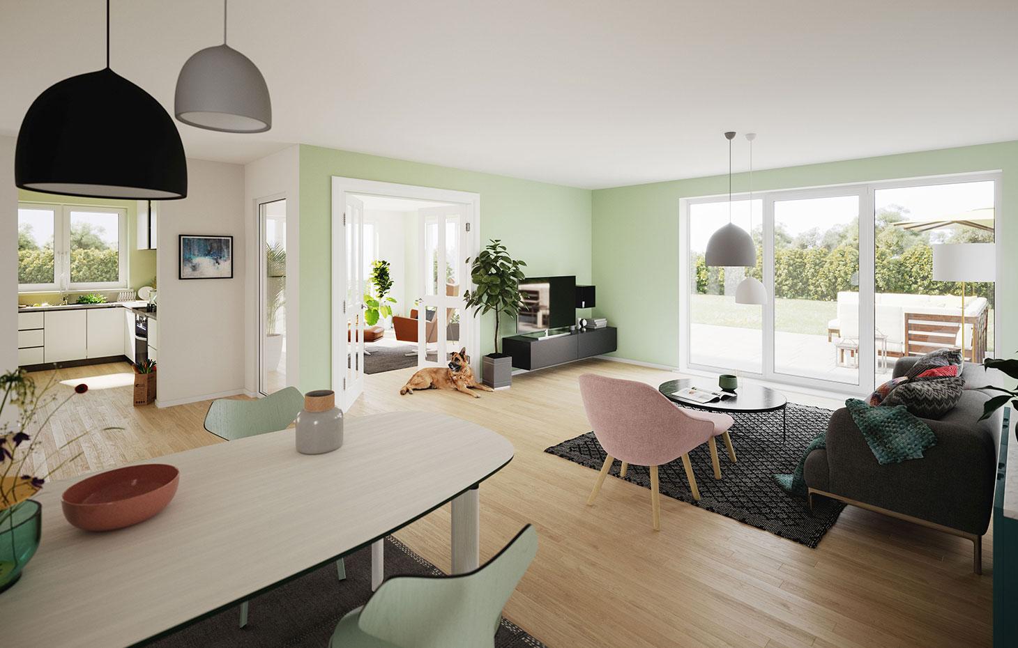 Bungalow mit Wintergarten bauen