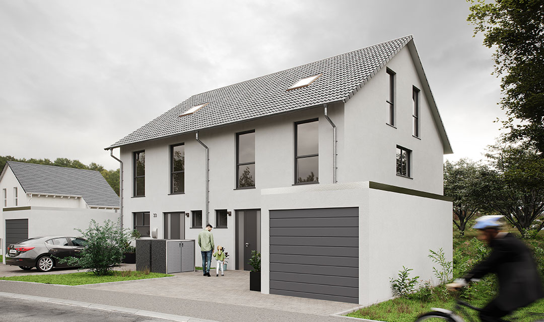Doppelhaus mit mehreren Stöcken bauen