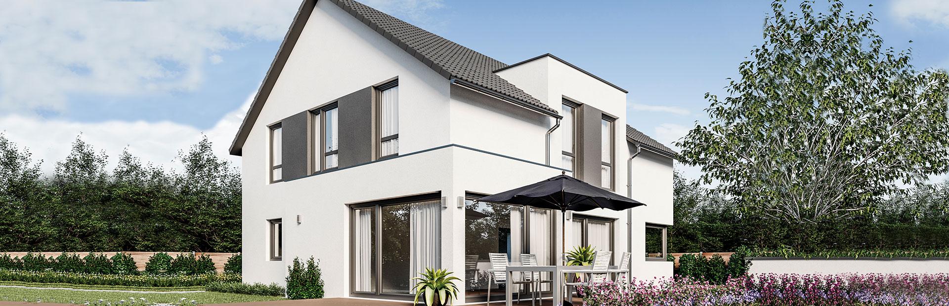 Einfamilienhaus mit Flachbau bauen