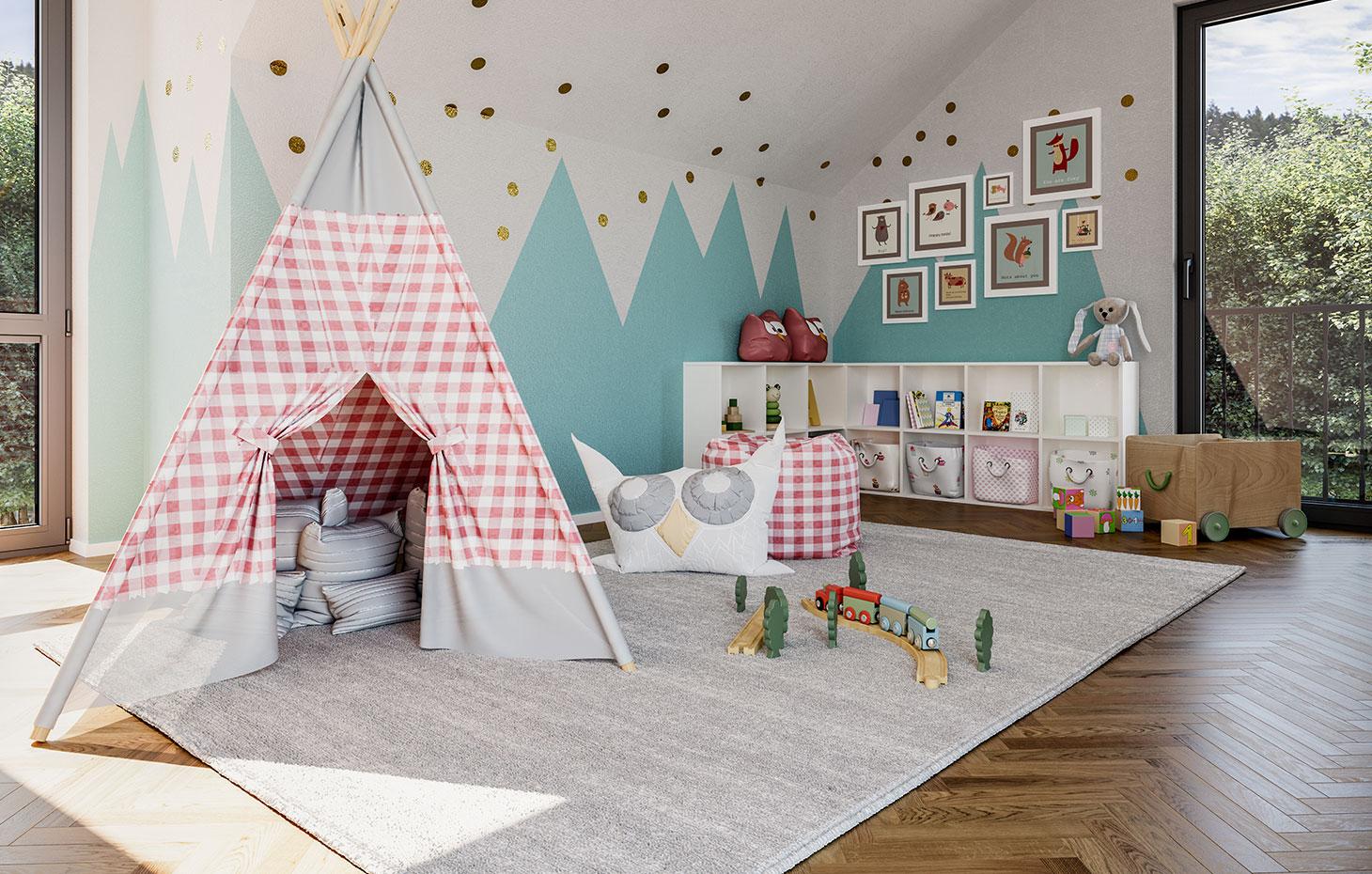 Einfamilienhaus mit geräumigen Zimmern bauen