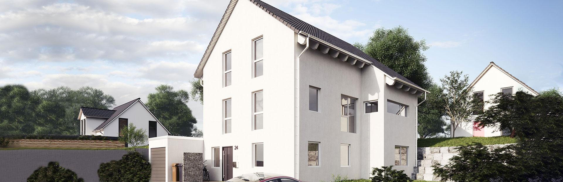 Einfamilienhaus mit Gewerbefläche bauen