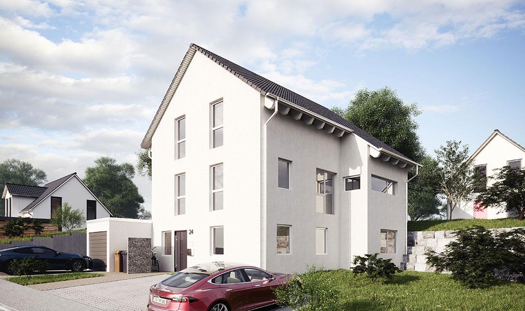 Einfamilienhaus mit Gewerbeflache und Homeoffice bauen