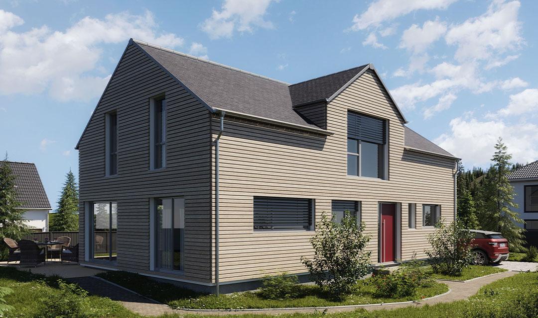 Einfamilienhaus mit Holzverschalung bauen
