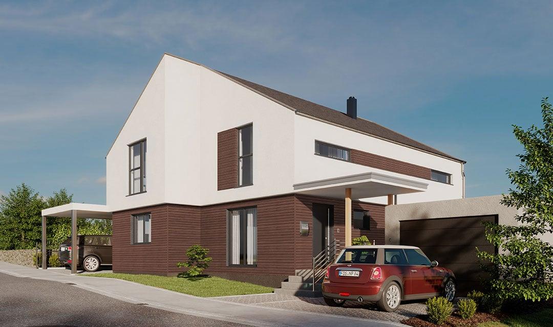 Einfamilienhaus mit klassischem Satteldach