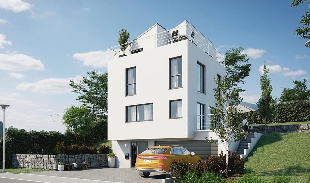 Einfamilienhaus mit vier Stockwerken bauen