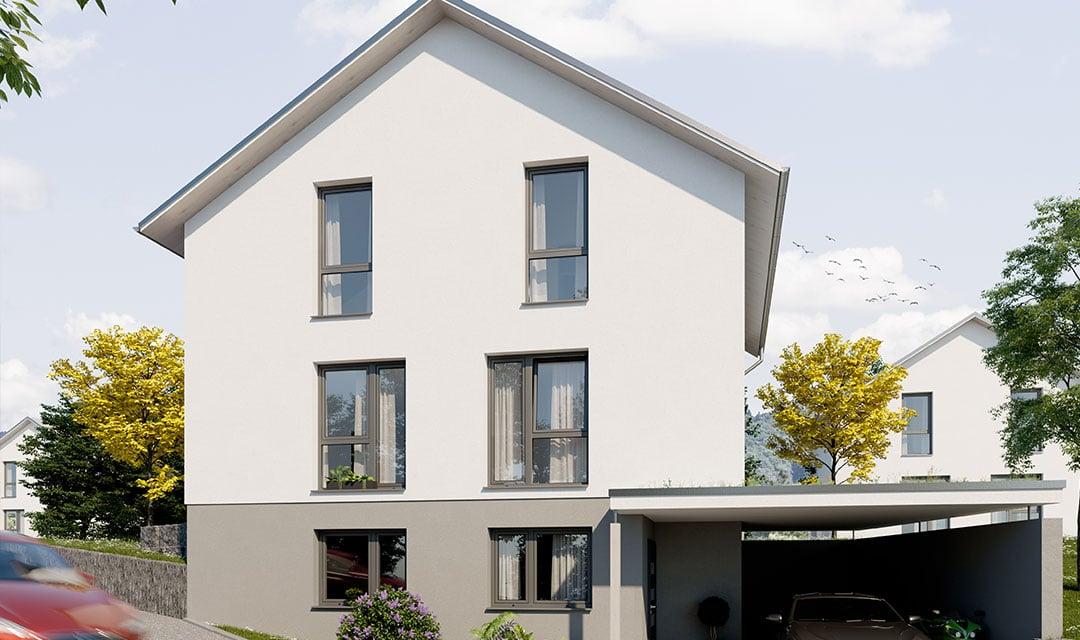 Einfamilienhaus mit Zufahrtsweg bauen
