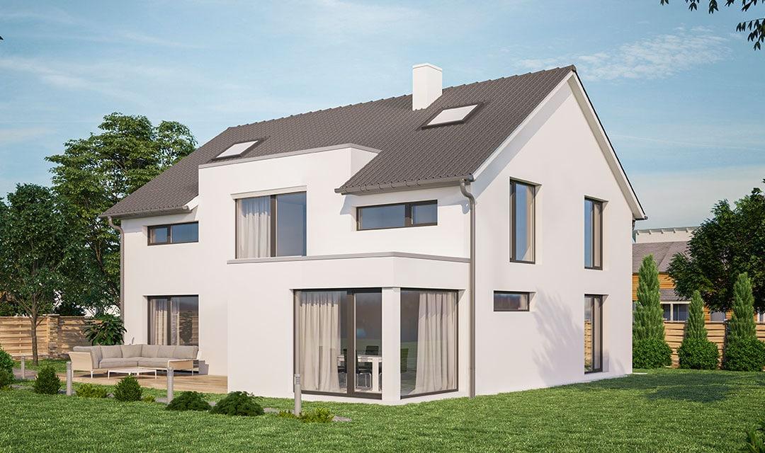 Einfamilienhaus mit weitläufiger Grundrissplanung