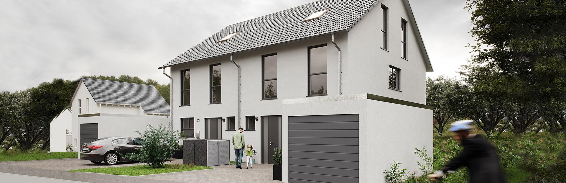 Geräumiges Doppelhaus bauen lassen
