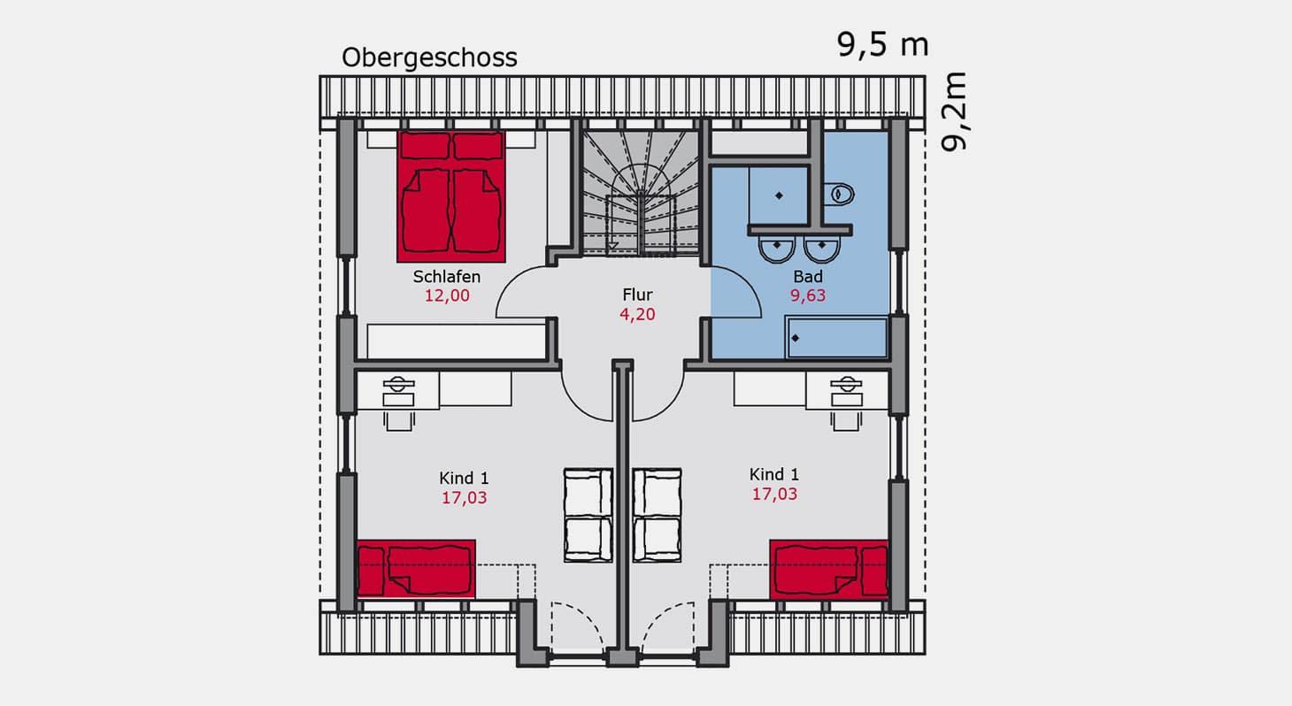 Grundriss – Einfamilienhaus e.117 OG