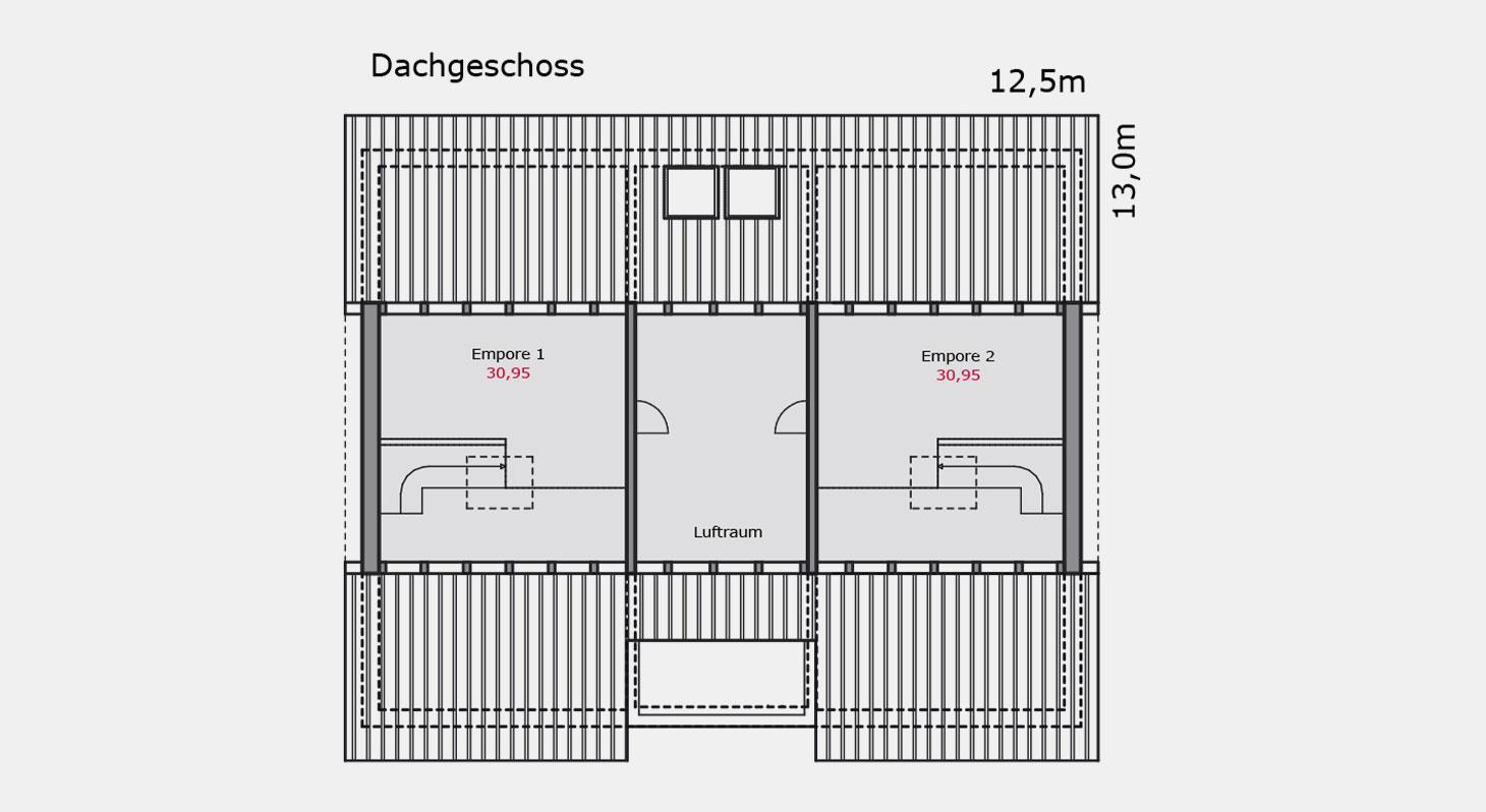 Grundriss – Einfamilienhaus e.126 DG