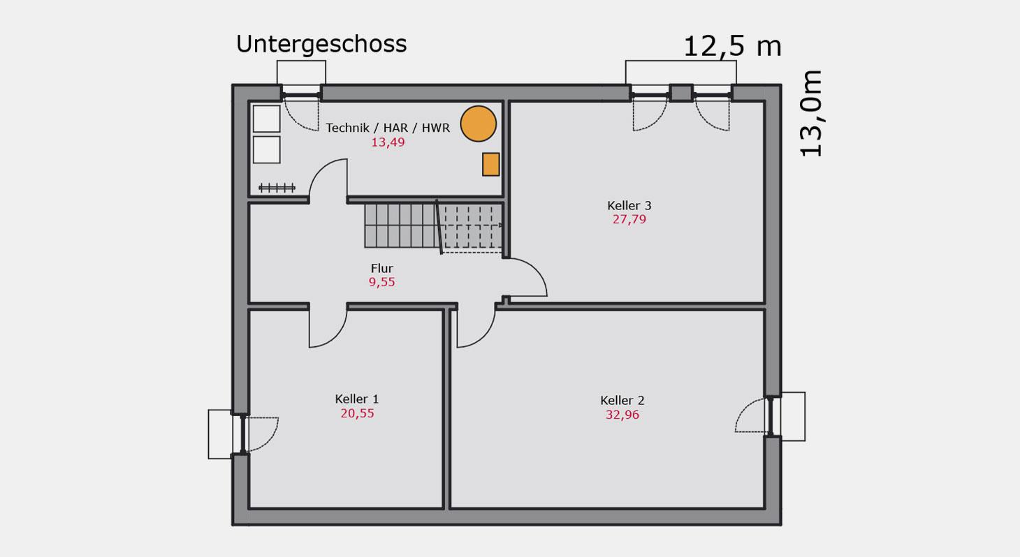 Grundriss – Einfamilienhaus e.126 UG