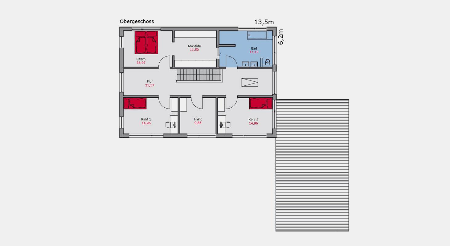Grundriss - Zweifamilienhaus z.153 Og