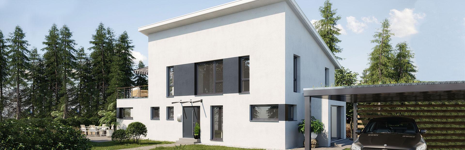 Klassisches Einfamilienhaus kombiniert mit Bungalow