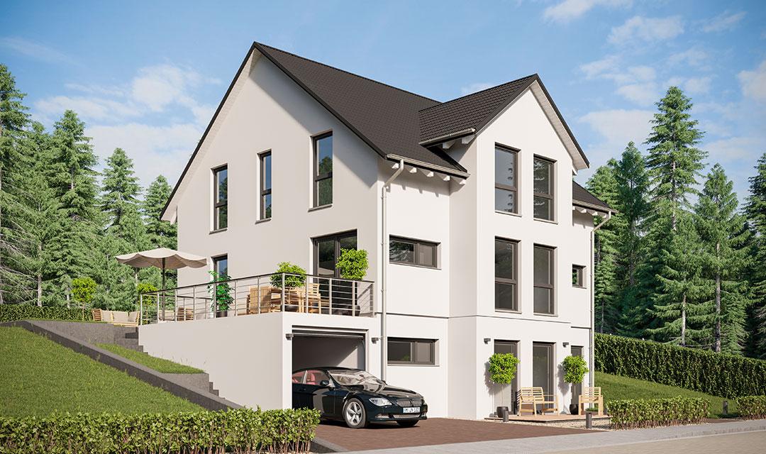 Wohnhaus mit zwei getrennten Wohneinheiten