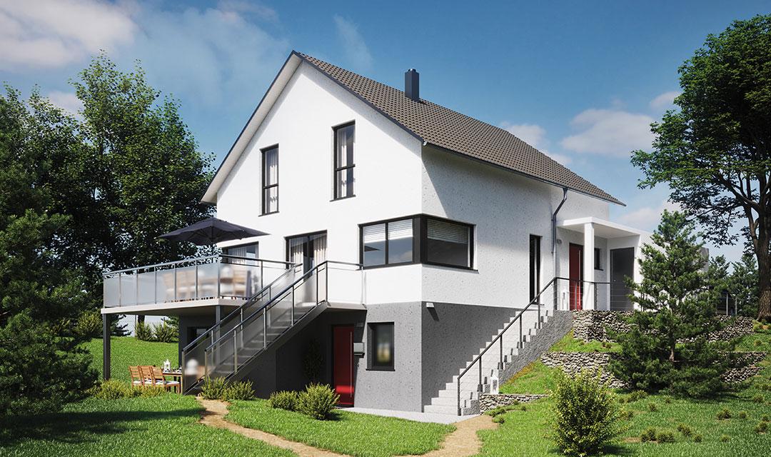 Zweifamilienhaus mit 200 qm Wohnfläche bauen