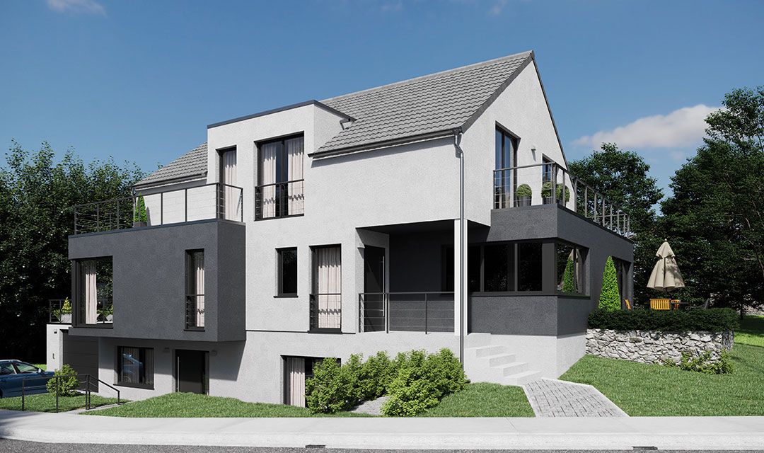 Zweifamilienhaus mit durchdachtem Grundriss