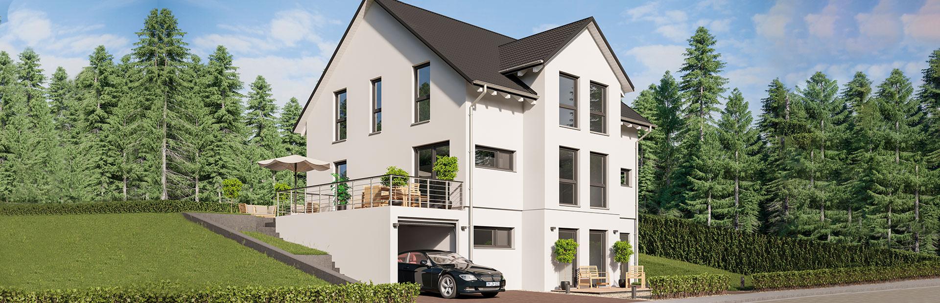 Zweifamilienhaus mit Satteldach und Einliegerwohnung
