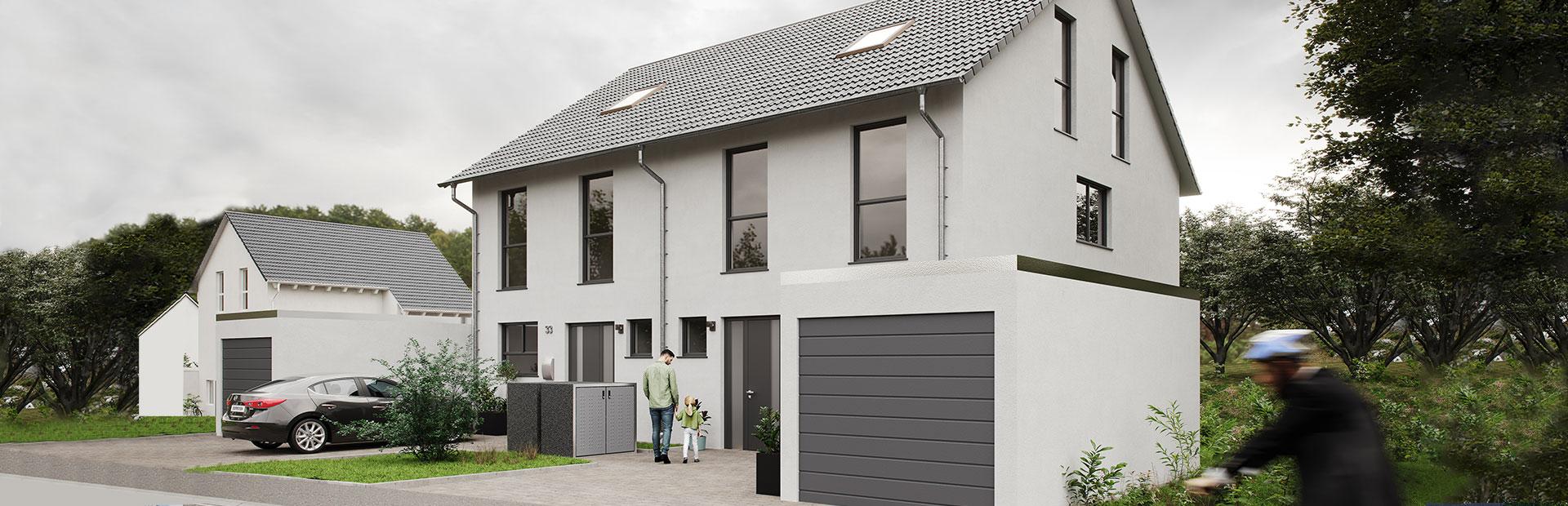 Doppelhaushälfte als Fertighaus bauen